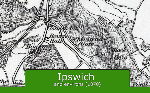 Ipswich and Environs Ordnance Survey Map 1870