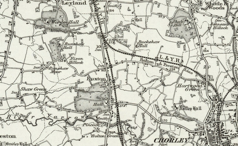 Preston (Garstang) OS Map