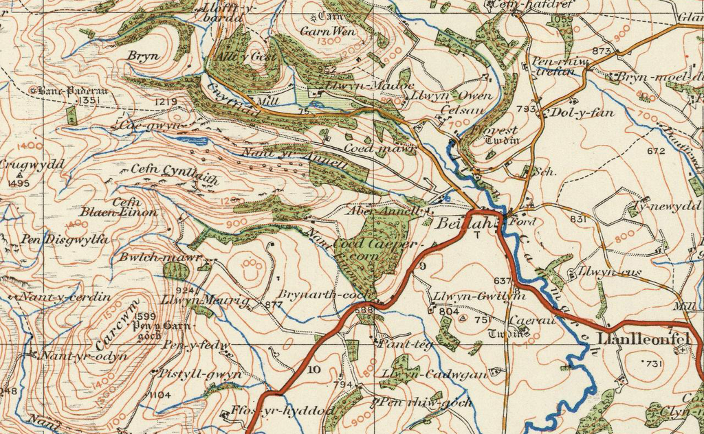 Map Of England In 1500.Llandrindod Wells Ordnance Survey Of England And Wales 1920 Series
