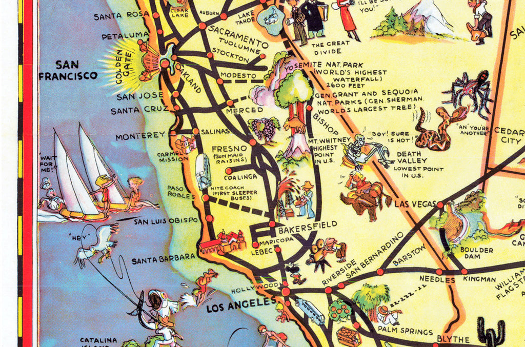 The Greyhound Route Map of the United States 1937 | I Love Maps