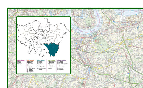 Bromley London Borough Map