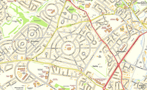 Nottingham Street Map