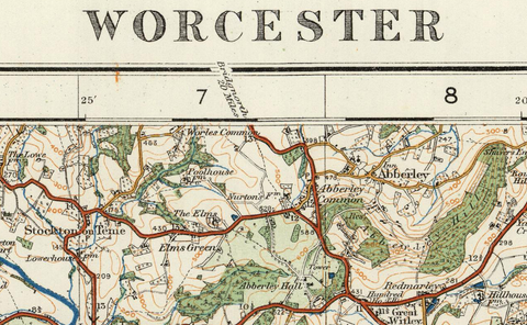 Worcester - Ordnance Survey of England and Wales 1920 Series