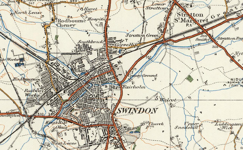 Swindown & Cirencester - Ordnance Survey of England and Wales 1920 Series