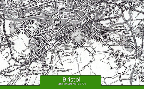 Bristol and Environs Ordnance Survey Map 1870