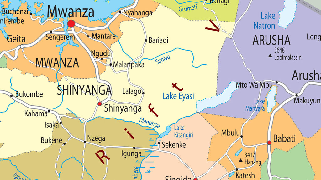 Picture of: Tanzania Political Map I Love Maps