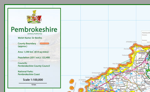 Pembrokeshire County Map