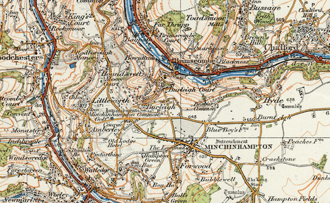 Stroud & Chepstow - Ordnance Survey of England and Wales 1920 Series