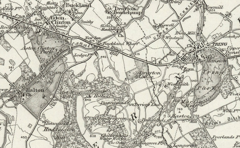 Aylesbury (Leighton Buzzard) 1890 OS Map