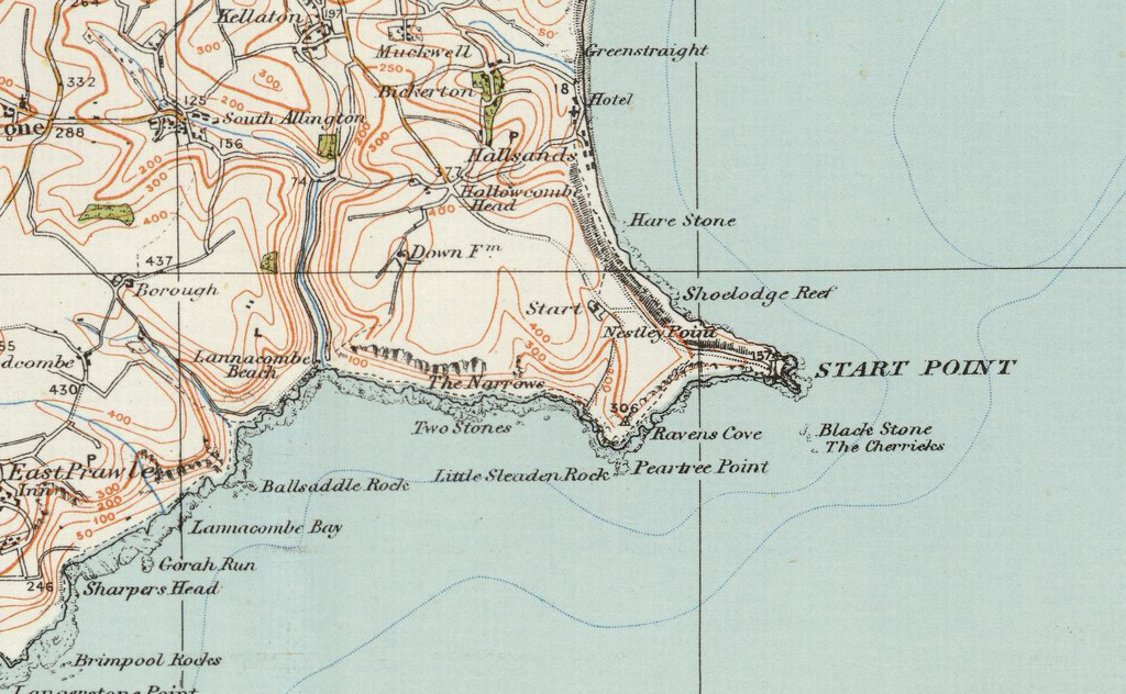 Torquay England Map.Torquay Dartmouth Ordnance Survey Of England And Wales 1920