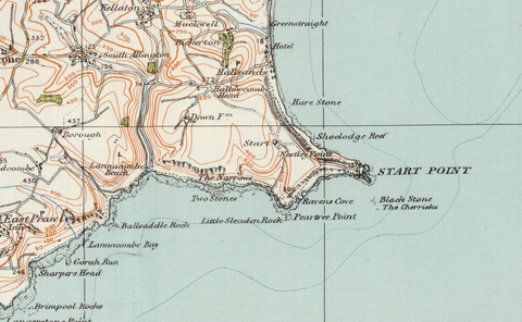 Torquay & Dartmouth - Ordnance Survey of England and Wales 1920 Series