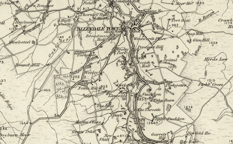 Hexham (Bellingham) OS Map