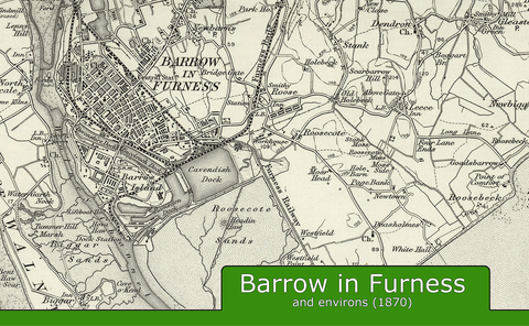 Barrow-in-Furness and Environs Ordnance Survey Map 1870