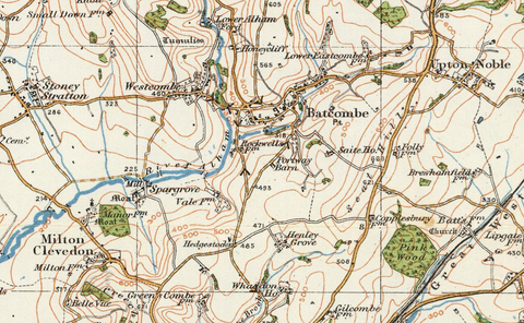 Wells & Frome - Ordnance Survey of England and Wales 1920 Series