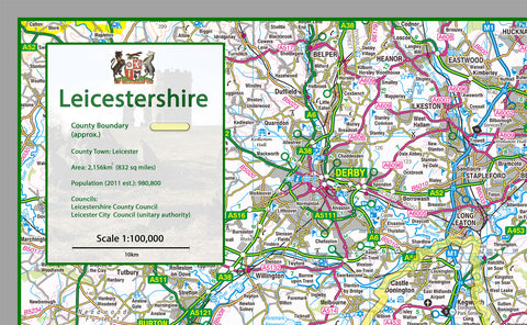 Leicestershire County Map