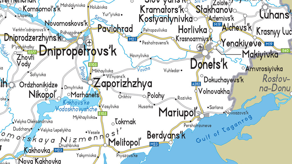 Ukraine Road Map I Love Maps