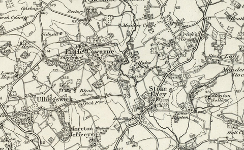 Hereford (Ludlow) OS Map