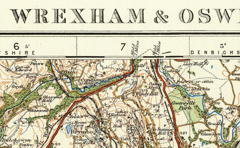 Wrexham & Oswestry - Ordnance Survey of England and Wales 1920 Series