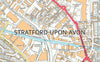 Stratford-upon-Avon Smaller Street Map