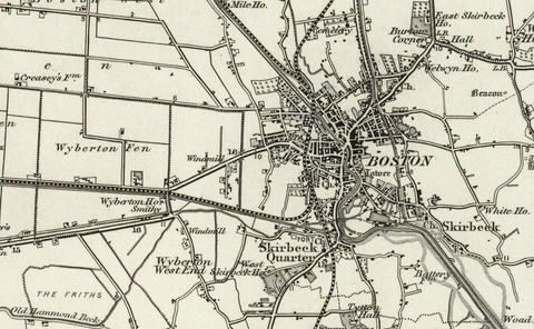Boston (Horncastle) OS Map