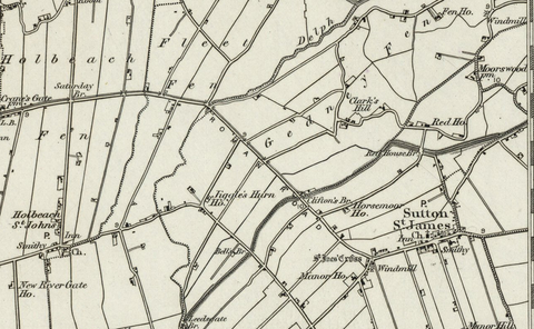 Spalding (Boston) OS Map