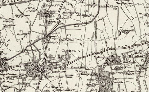 Abingdon (Oxford) 1890 OS Map