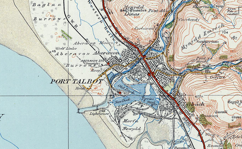 Swansea 1920 Ordnance Survey Map