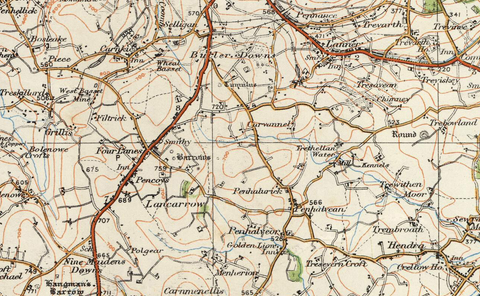 Truro & St Austell - Ordnance Survey of England and Wales 1920 Series