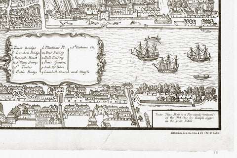 Map Of London By Ralph Aggas 1560