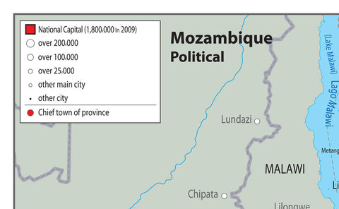 Mozambique Political Map