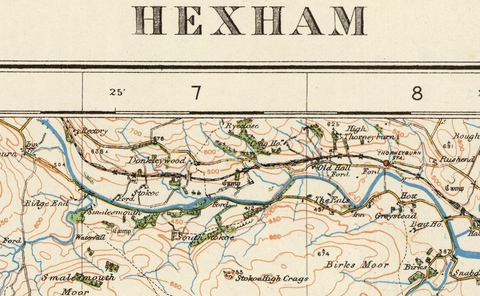 Hexham - Ordnance Survey of England and Wales 1920 Series