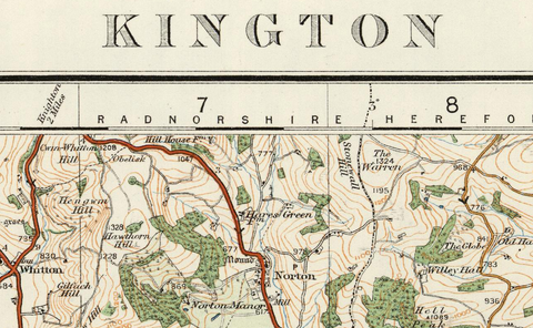 Kington - Ordnance Survey of England and Wales 1920 Series