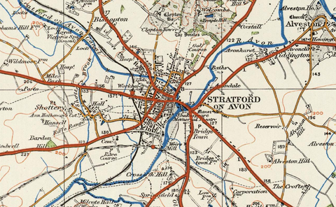 Stratford on Avon - Ordnance Survey of England and Wales 1920 Series