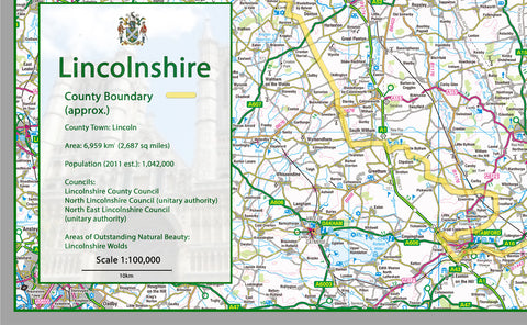 Lincolnshire County Map