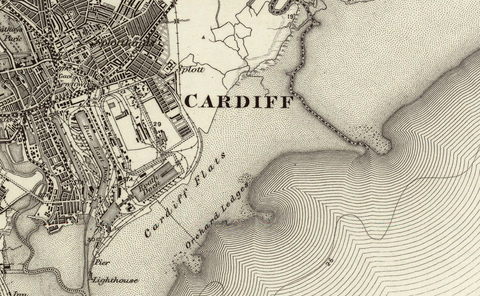 Cardiff (Newport) OS Map