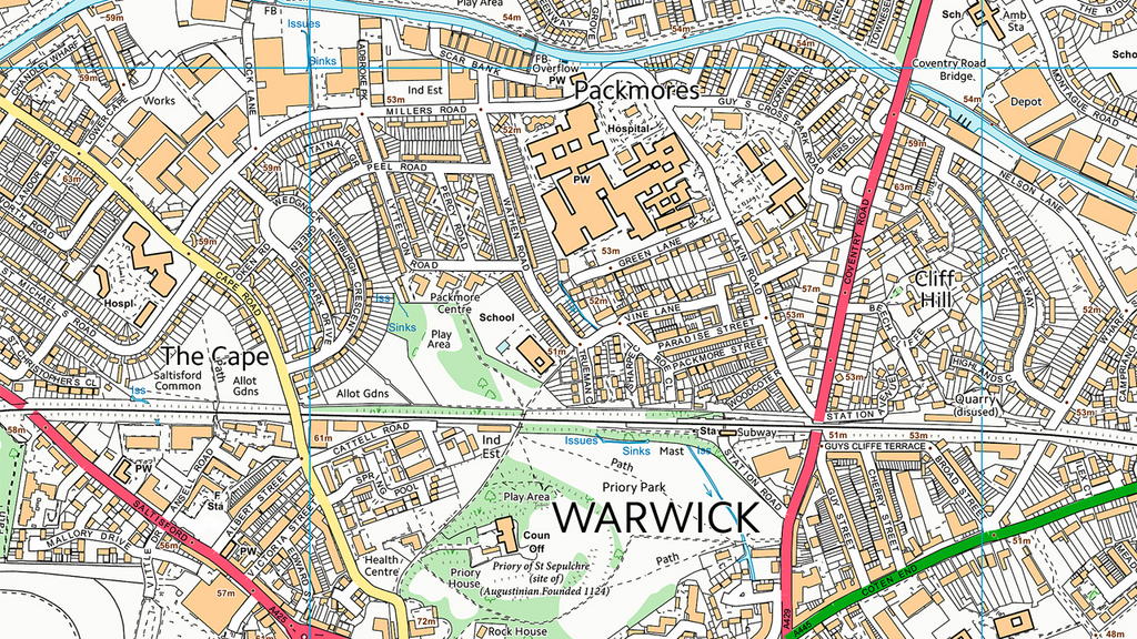 Royal Leamington Spa and Warick Street Map I Love Maps