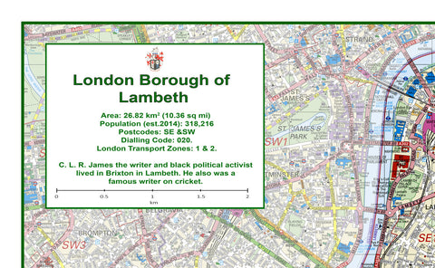 Lambeth London Borough Map