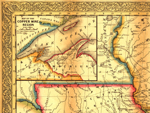 Mitchells Travelers Guide To The Eastern US  Map I Love Maps - Map of the us in 1853