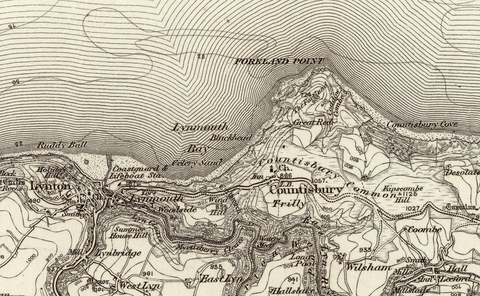 Ilfracombe (Sker Point) OS Map