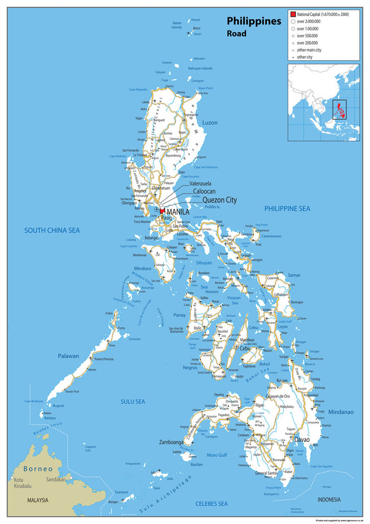 Philippines Road Map I Love Maps