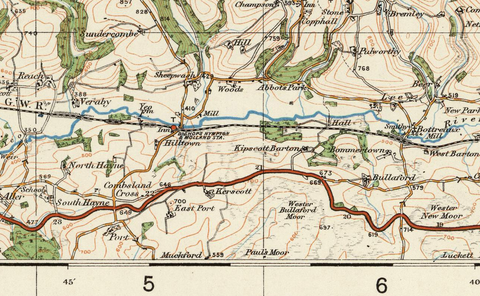 Exmoor - Ordnance Survey of England and Wales 1920 Series