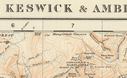 Keswick & Ambleside - Ordnance Survey of England and Wales 1920 Series