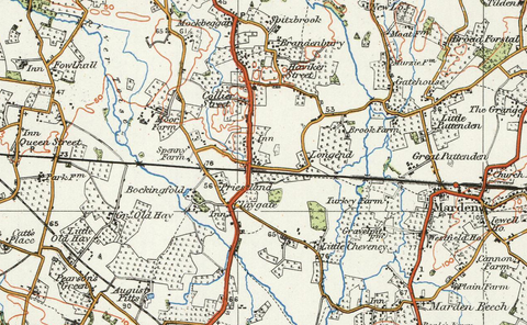 Weald of Kent - Ordnance Survey of England and Wales 1920 Series