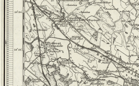 Borough under Stainmore (Alston) OS Map