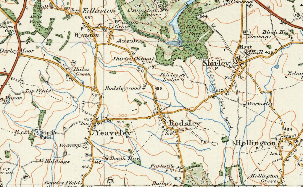 Derby Ordnance Survey Of England And Wales 1920 Series I Love Maps
