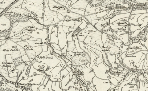 Montgomery (Welshpool) OS Map