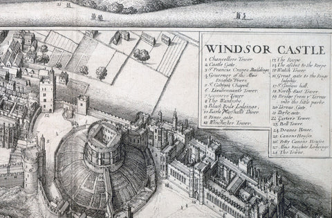 Windsor Castle by Wenceslas Hollar Circa 1666 (White)