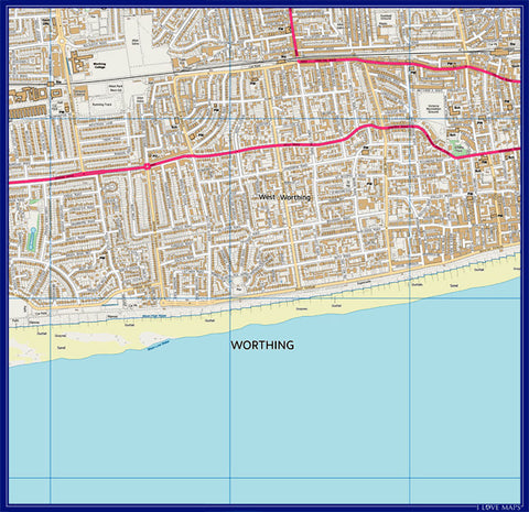 Personalised 3km x 3km 1:10 000 Ordnance Survey Map