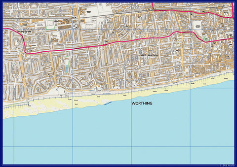 Personalised 4.3km x 3km 1:10 000 Ordnance Survey Map
