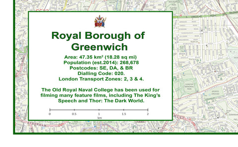 Greenwich London Borough Map